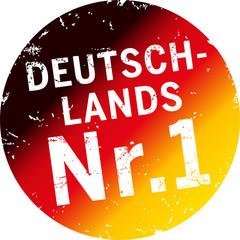 Button Stempel Deutschlands Nr.1 schwarzrotgold