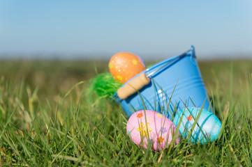 Bucket easter eggs