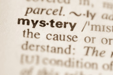 Dictionary definition of word mystery