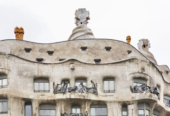 Casa Mila in Barcelona. Spain