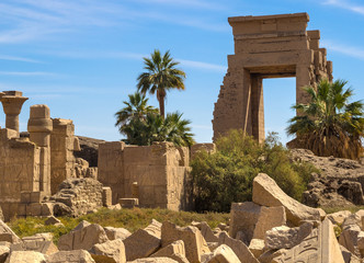 Ancient Egypt - archeology objects in Karnak Temple.
