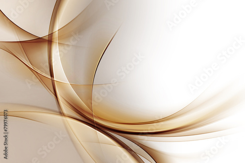 Deurstickers Abstract wave Elegant Gold Waves