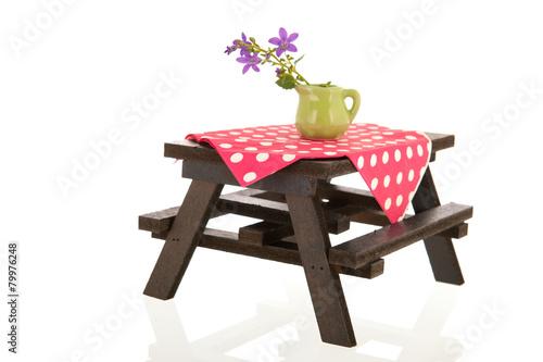 Foto op Aluminium Picknick picnic table