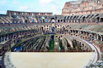 The Coliseum is one of Rome's most popular tourist attraction