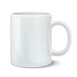 Vector illustration of photorealistic white mug - 79977812