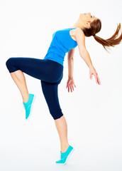 dance fitness woman portrait.