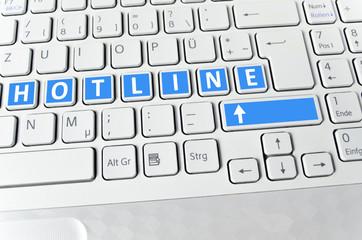 Helle Tastatur: Hotline