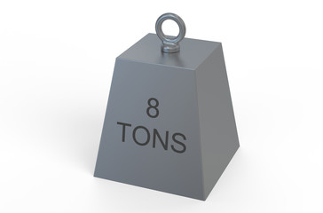 weight,  8 tons