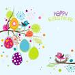 Obrazy na płótnie, fototapety, zdjęcia, fotoobrazy drukowane : Template Easter greeting card, vector