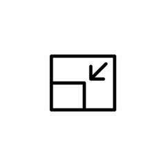 Screen Restore - Trendy Thin Line Icon