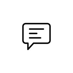 Instant message - Trendy Thin Line Icon