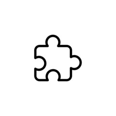 Puzzle - Trendy Thin Line Icon