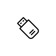Flash Drive - Trendy Thin Line Icon