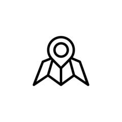 Map - Trendy Thin Line Icon