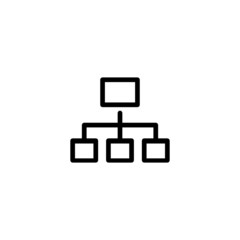 Network - Trendy Thin Line Icon