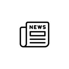 News - Trendy Thin Line Icon