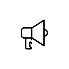 Loudspeaker - Trendy Thin Line Icon