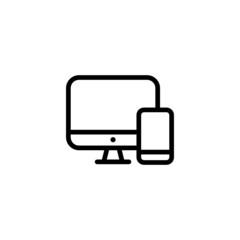 Responsive Design - Trendy Thin Line Icon