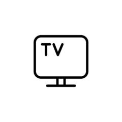 TV - Trendy Thin Line Icon
