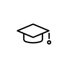 Square Academic Cap - Trendy Thin Line Icon
