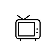 TV - Trendy Thin Line Icon