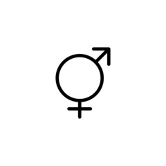 Transgender - Trendy Thin Line Icon