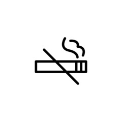 No Smoking - Trendy Thin Line Icon