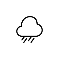Heavy Rain - Trendy Thin Line Icon