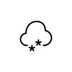 Snow - Trendy Thin Line Icon