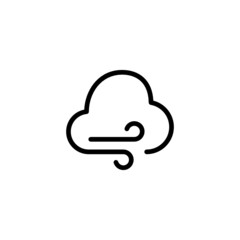 Stormy Day - Trendy Thin Line Icon