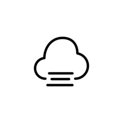 Cloudy - Trendy Thin Line Icon