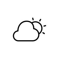 Cloudy Day - Trendy Thin Line Icon