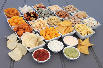 Savoury Snack and Dip Selection