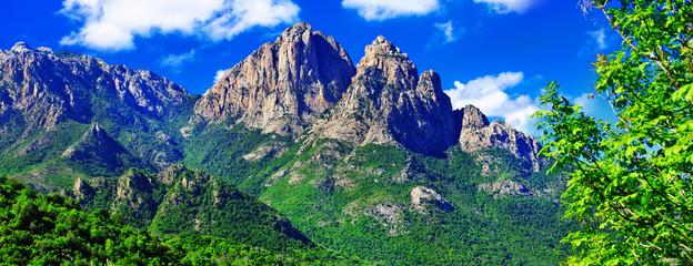 impressive mountains landscapes of Corsica