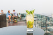Mojito cocktail on table in rooftop bar - 79982285