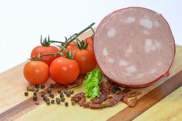 Mortadella Bologna and vegetables