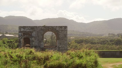 Old ancient architectural ruins Montego Bay, Jamaica