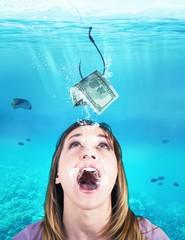 Woman takes the bait