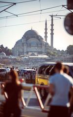 Türkei, Istanbul, Galata-Brücke und Yeni Cami