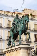 Statue of King Charles III in Madrid