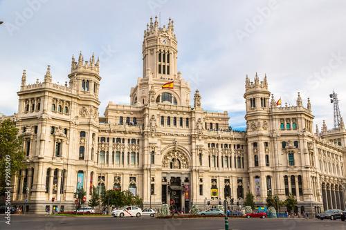 Fotobehang Madrid Cibeles Palace in Madrid