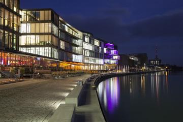 Deutschland, Münster, Ansicht vom Stadthafen