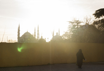 Türkei, Istanbul, Blick auf die Blaue Moschee