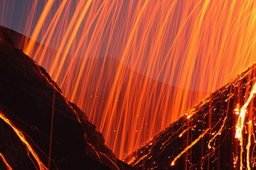 Italien, Sizilien, Nahaufnahme von Stromboli Vulkan