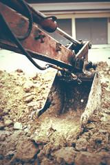 Backhoe Digging vintage