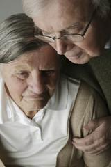 Portrait des älteren Paares, close-up