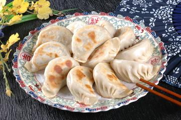Asian food dumplings