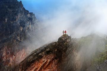 Österreich, Salzburger Land, Filzmoos, Paar, Zwei Wanderer