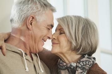 Deutschland, Berlin, Senioren Paar, lächelnd