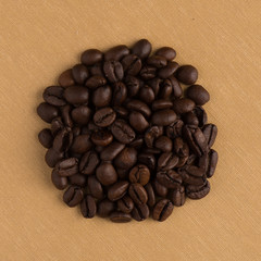 Circle of coffee